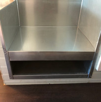Metal hearth with storage