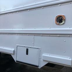 RV propane tank access door