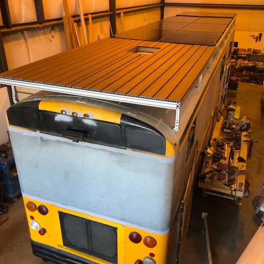 Roof deck & 3,360 watt array