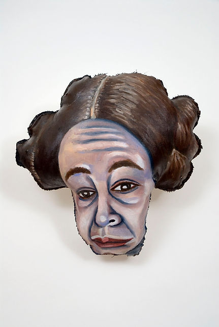 Self-Portrait With Carrie Fisher's Hair.