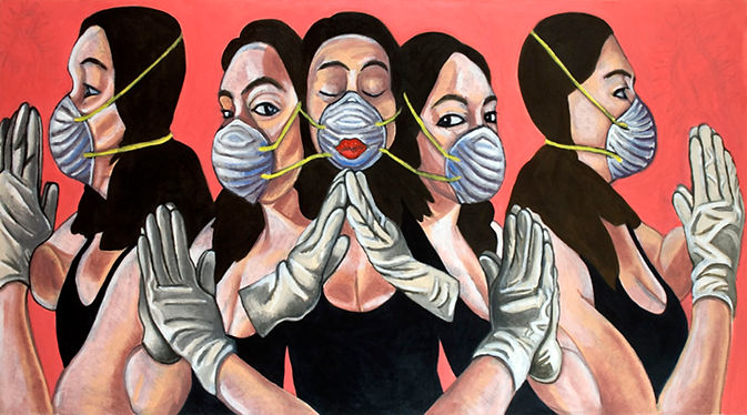 Self-Portraits with Masks and Gloves.jpg