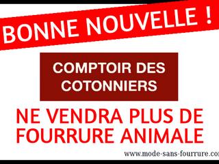 Comptoir des Cotonniers ne vendra plus de fourrure animale dès fin 2017 !