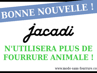 """Jacadi a dit """"On arrête la fourrure véritable"""""""