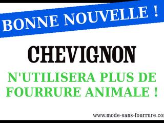 Chevignon dit STOP à la fourrure animale