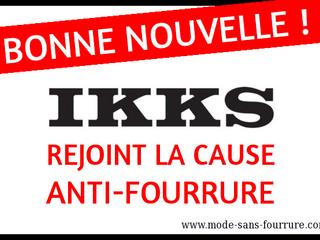 IKKS rejoint la cause anti-fourrure à partir de 2017