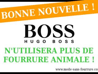 Pour Hugo Boss, la fourrure animale c'est terminé !