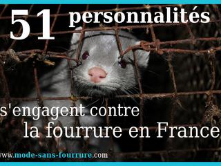 Communiqué : 51 personnalités s'engagent contre la fourrure en France