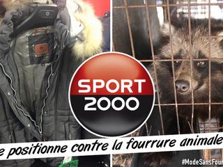 SPORT 2000 se positionne contre la fourrure animale !