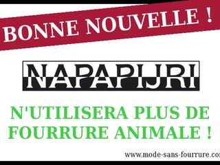 Napapijri n'utilisera plus de fourrure animale !