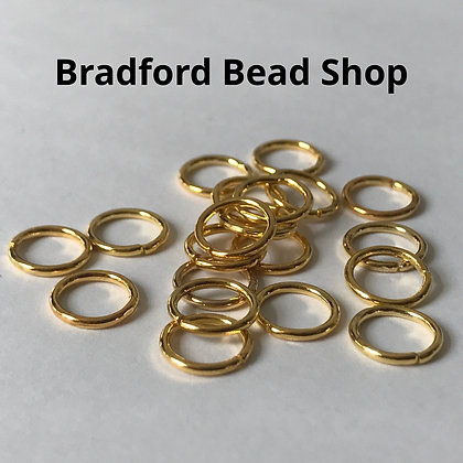 Jump Rings - 8mm x 1mm - Gold Plated