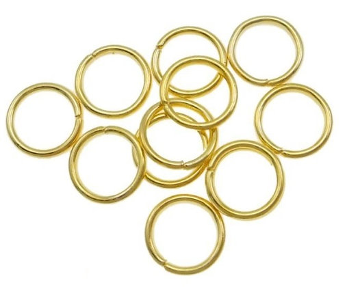 Jump Rings - Gold Plated - 8mm x 1mm