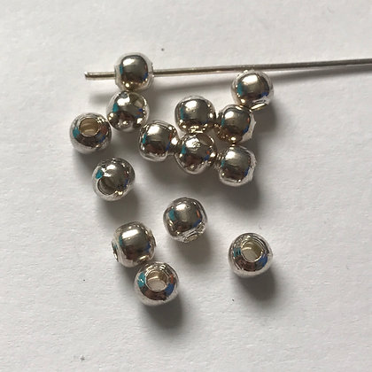 Metal Spacer Bead - 5mm - Platinum Plated