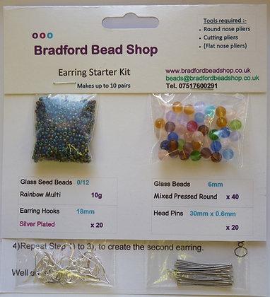 Basic Head Pin Earring Starter Kit - Multi Mix 1
