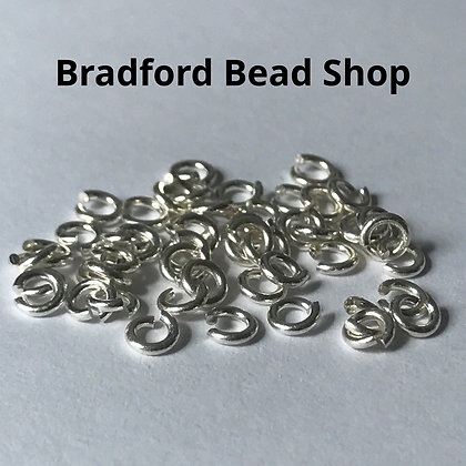 Jump Rings - 3.5mm x 0.8mm - Silver Plated
