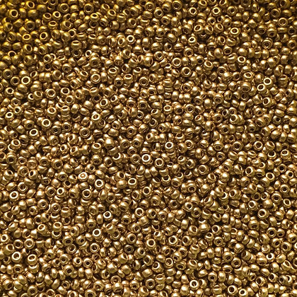 Glass Seed Bead - Czech - Size 10 - Metalic Gold