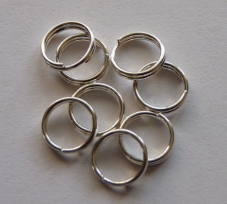 Split Jump Rings (double) - Silver Plated - 7mm x 0.7mm
