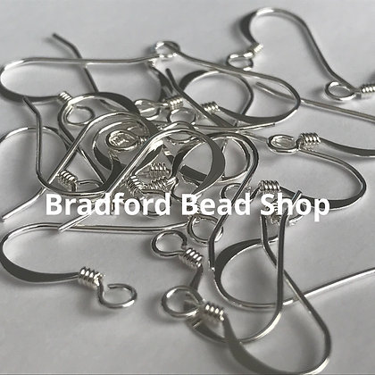 Fish Hook Earring Wires - Silver Plated - 18mm