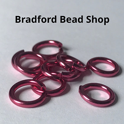 Jump Rings - 10mm x 1.7mm - Pink