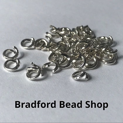 Jump Rings - 4mm x 0.8mm - Silver Plated