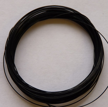 Tiger Tail Wire - 0.38mm - Black - x 5 Metres