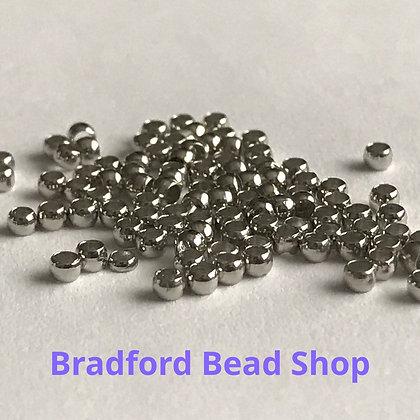 Crimp Beads - Rhodium Silver Colour