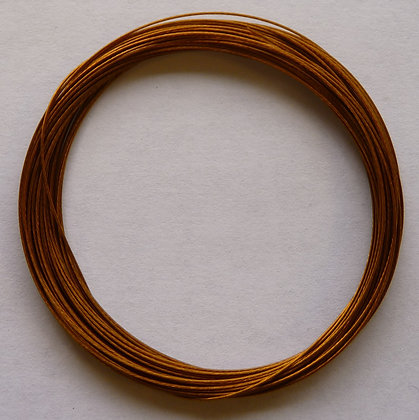 Tiger Tail Wire - 0.38mm - Gold - x 5 Metres