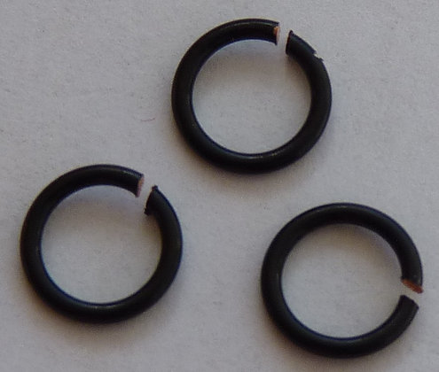 Jump Rings - Black - 6mm x 1mm