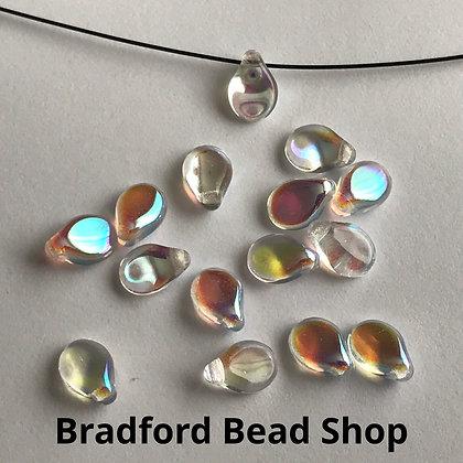 Preciosa PIP Beads - Crystal Rainbow Translucent - 5mm x 7mm