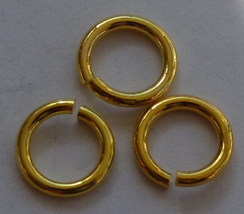 Jump Rings - Gold - 6.5mm x 1mm