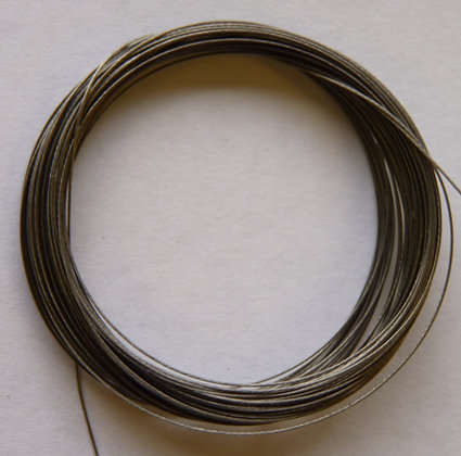 Tiger Tail Wire - 0.45mm - Silver - x 5 Metres
