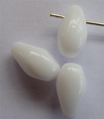 Glass Droplet Beads - White Opaque