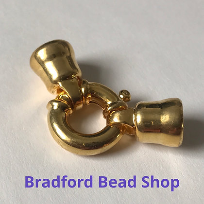 Chunky Springring Clasp Set - 35mm x 15mm - Gold Plated