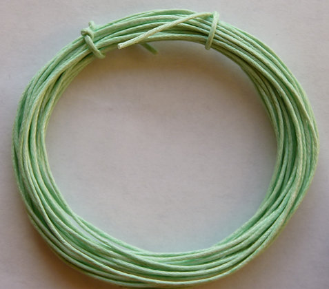 Waxed Cord - 1mm - Mint Green - x 4 Metres