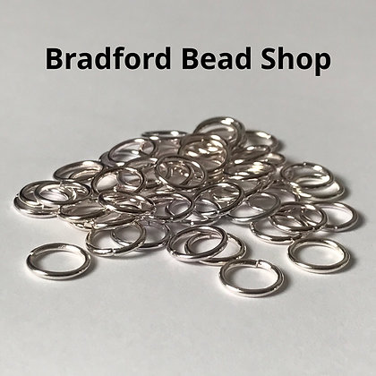Jump Rings - 10mm x 1.2mm - Silver Plated