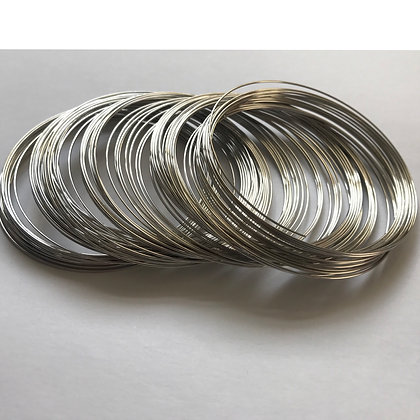 Memory wire - Rhodium - diameter 6cm - 0.6mm thickness - Large pack