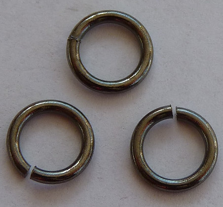 Jump Rings - 6.5mm x 1mm - Gunmetal Colour