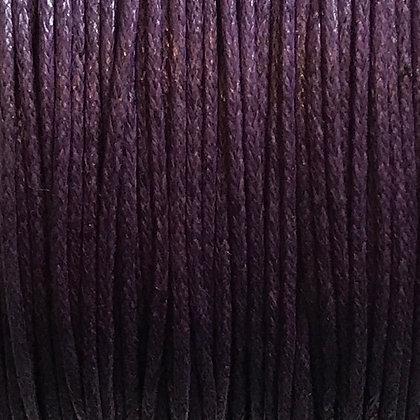 Waxed Cord - 1mm - Purple - x 10 Metres