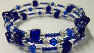 loop memory wire bracelet - blue.JPG