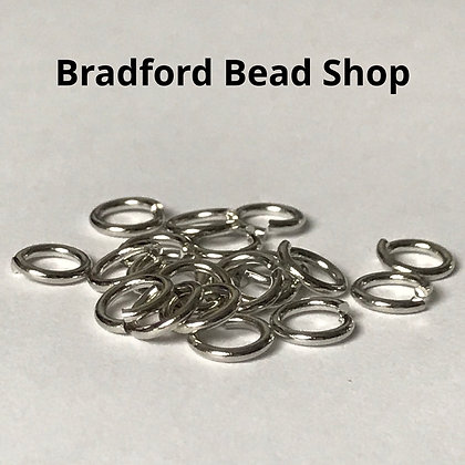 Jump Rings - 7.5mm x 1.2mm - Antique Silver