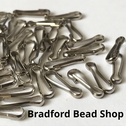 Lanyard Clasps - 11mm x 3mm - Platinum Plated