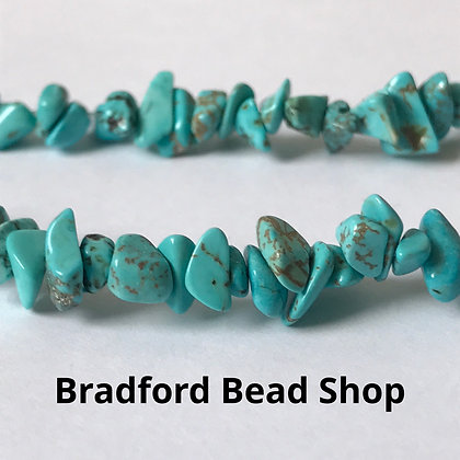 Turquoise Howlite Chip Beads - app. 3-5mm