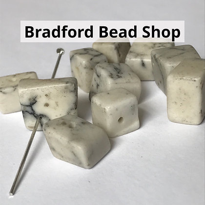 Howlite Chip Beads - Large