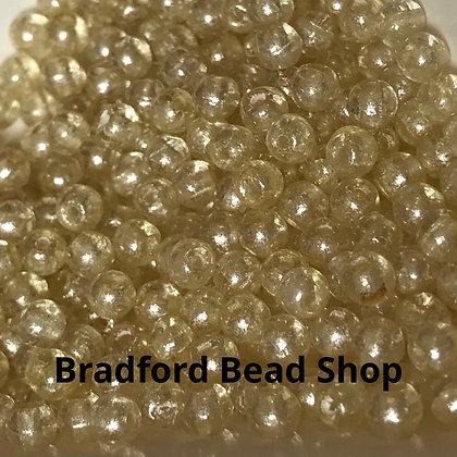 Glass Round Beads -   Citrine Yellow Translucent  - 3mm