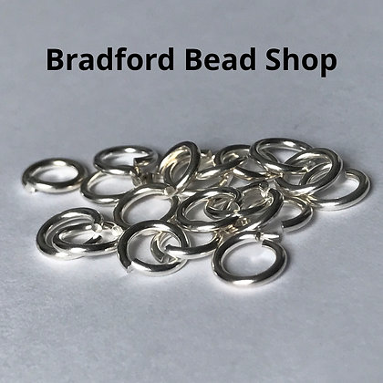 Jump Rings - 6mm x 1mm - Silver Plated (Bright)