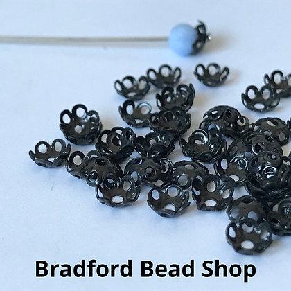 Bead End Cup (Plain) - 5mm - Zinc Plated