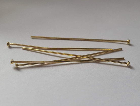 Head Pins - Gold Plated