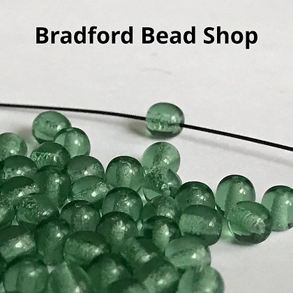 Glass Round Beads - Leafy Green Translucent - 4mm