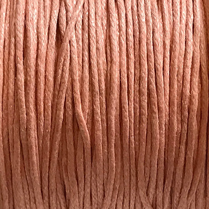 Waxed Cord - 1mm - Light Pink - x 10 Metres