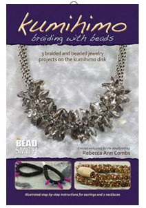 Kumihimo braiding with beads BK417