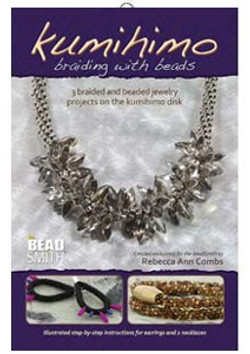 Kumihimo braiding with beads BK417